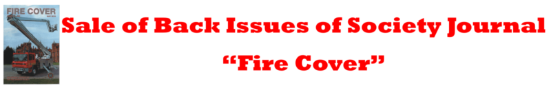 Sale of Back Issues of Fire Cover