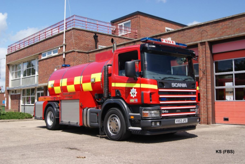 Scania Water Carrier of Hereford & Worcester FRS at Evesham