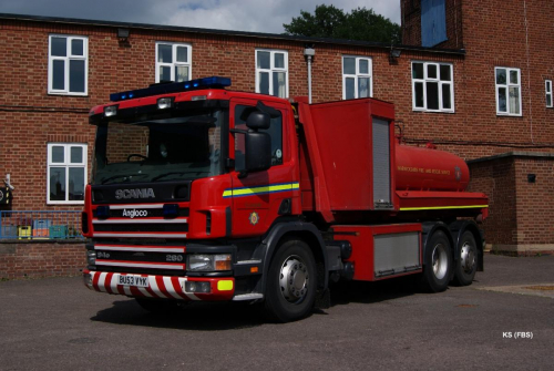 Scania / Angloco Prime Mover with Water Carrier Pod of Warwickshire FRS at Coleshill