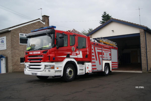 Scania / Emergenccy One (UK) Rescue Pump of Shropshire FRS at Cleobury Mortimer