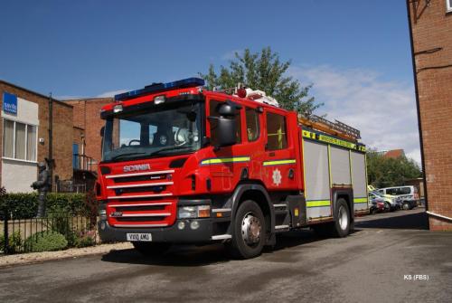 Scania / Emergenccy One (UK) of Warwickshire FRS at Stratford Upon Avon