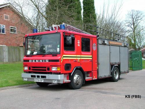 Dennis Rapier Pump Rescue Ladder of West Midlands FS at Sedgley