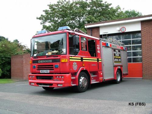 Dennis Sabre XL Pump Rescue Ladder of West Midlands FS at Northfield