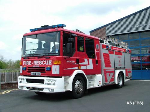 Dennis Sabre XL / JDC Water Ladder of Shropshire FRS at Shrewsbury